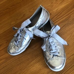 Silver Coach Sneakers 💙